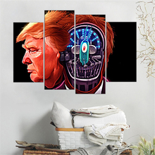 Buy 4 Pieces Donald Trump poster Wall Art Picture Modern Home Decoration Living Room Bedroom Canvas Print Painting Wall Picture for $9.78 in AliExpress store