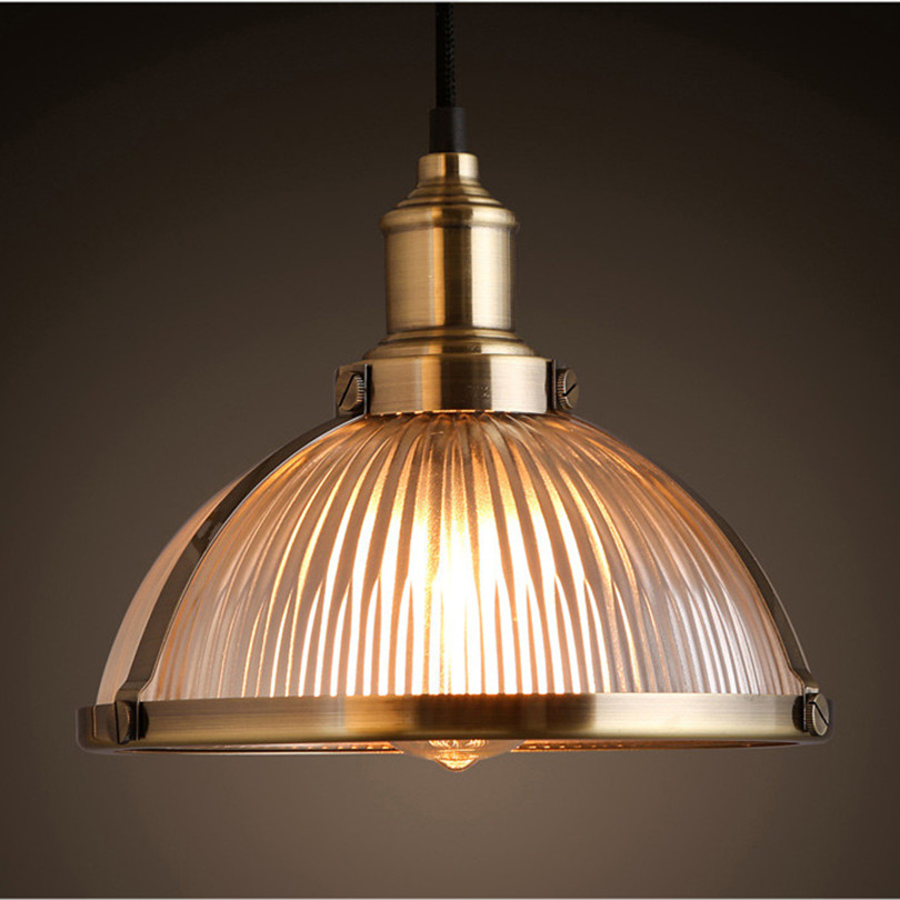 2016 Dia26cm Modern Simple Silver / Gold Plated Glass Edison Pendant Light For Bar With E27 Bulb(China (Mainland))