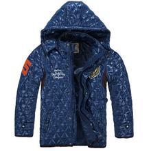 Size 110 150 Big Boy Outdoor Winter Jacket Good Quality Kids Coat Hooded Design Children Fashion