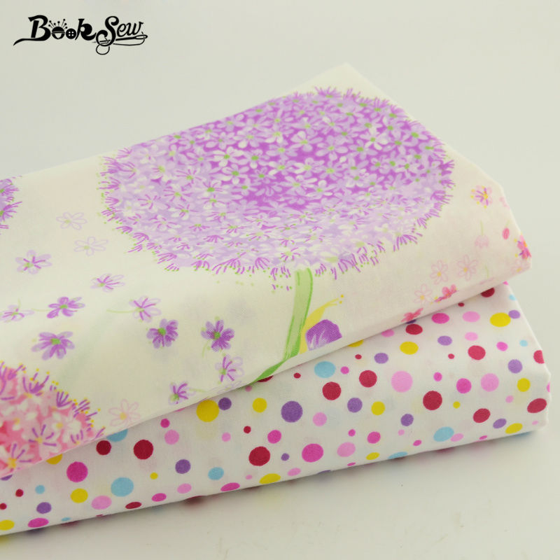 Bedding Quilting Meters Lovely Flower Design 100% Cotton Twill Fabric Material DIY Sewing 2PCS Mix Art Work Baby Cloth 40*50cm(China (Mainland))