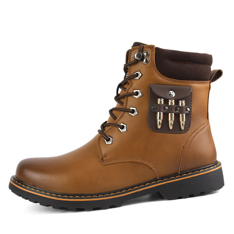 2015 new winter outdoor clothes really Pima Ding boots snow boots warm cold men factory outlets(China (Mainland))