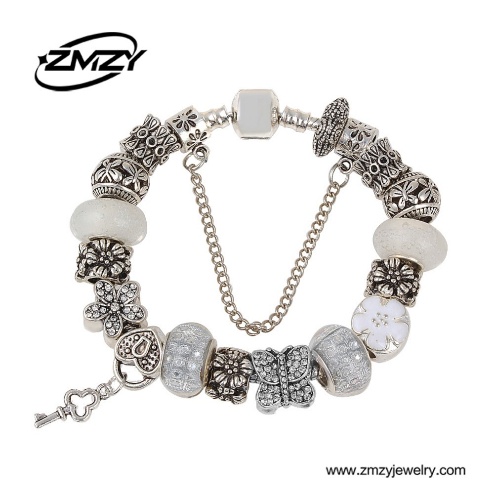 New Crystal European Charms jewelry wholesale fit Charms Bracelet for Women free shipping with beautiful gift bag(China (Mainland))