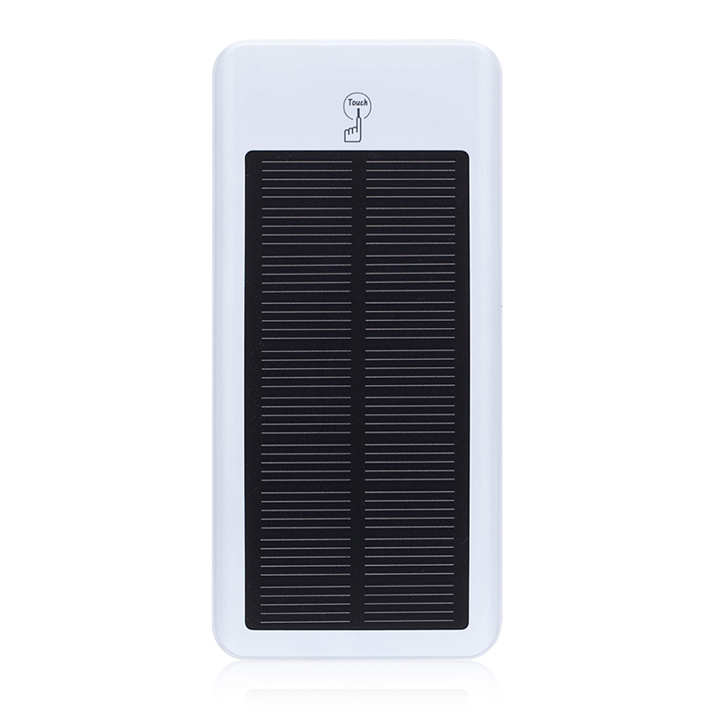 2016 Hot Black White 12000mAh Dual USB Port Universal Solar Charger Box PowerBank for Mobile SmartPhone Charge , Free Shipping