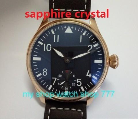 Сапфировое стекло ПАРНИС ST3621/6498 Механическая Рука Ветер движения механические часы Высокого качества мужчины 'swatch покрытие из Розового золота