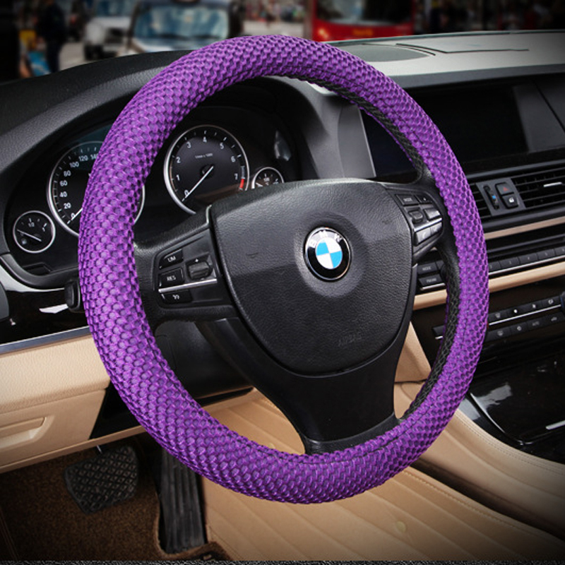 38cm 15 purple eva rubber for seasons no sweat hands no smell car steering wheel. Black Bedroom Furniture Sets. Home Design Ideas