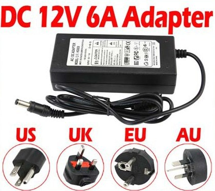(10pcs/lot) 72W 12V 6A Power Adaptor/Adapter Power Supply LED transformer Driver for 3528 5050 LED strips(China (Mainland))