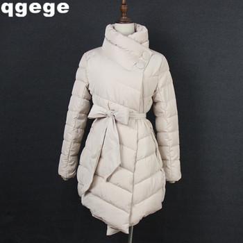 Зимняя куртка женщин толстый длинный рукав длинный стиль парки для женщин зимнего мода нерегулярные с blet весте роковой hiver