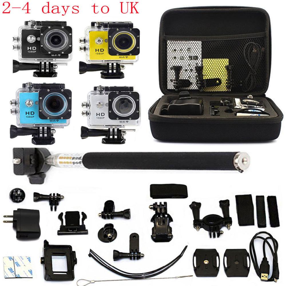 UK 2.0 WiFi HD 1080P Car DVR Recorder Action Camera Go Sports pro Camera DV As SJ4000 SJ5000 SJ6000 + Bag + Monopod Holder<br><br>Aliexpress
