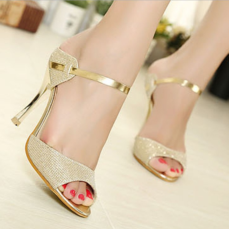 Freeshipping Sexy Women's Pumps High Heels Platform Wedding shining big sizeTPR sole bottom shoes woman heels platform hot(China (Mainland))