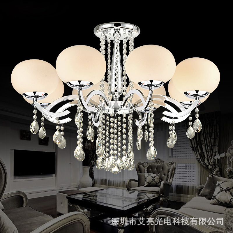 2016 New Simple Modern LED Ceiling Lamps Crystal Warm Round Main Bedroom Led Ceiling Light Living Room Atmosphere indoor lamps(China (Mainland))