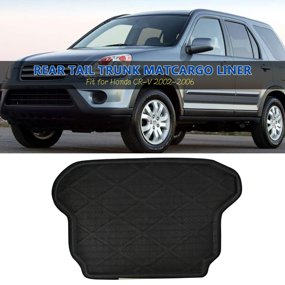 Top quality 3D Black Truck  Rear Tail Tray Boot Liner Protecter Cargo Mat Carpet All Weather Anti-Slip For Honda CR-V 2002-2006