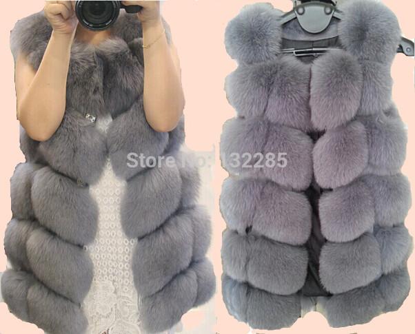 Luxury New Best Natural Fox Fur Vest Woman Genuine Fur Coat For Women's Real Furs Vests Fur Jacket Winter Warmest Waistcoat(China (Mainland))