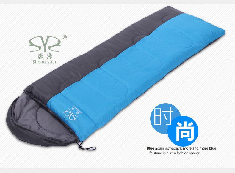 Splicing Outdoor adult envelope type hooded sleeping bag<br>