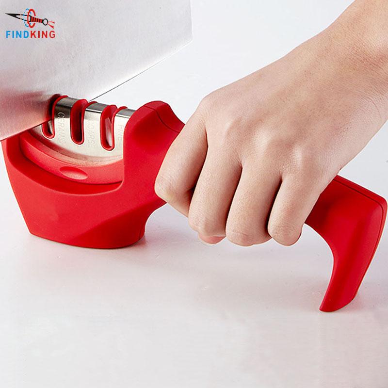 FINDKING brand 3 Stages (Diamond & Tungsten steel & Ceramic) Kitchen Knife Sharpener ,Sharpening Stone Household Knife Sharpener(China (Mainland))