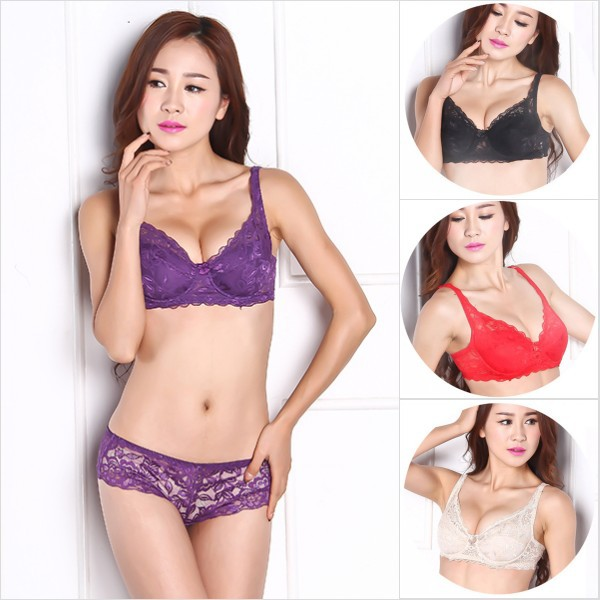 2015 Sexy Gather Push Up Bra Underwire 5/8Cup Lace Brassiere Underwear 32/34/36/38/40 On Sale(China (Mainland))