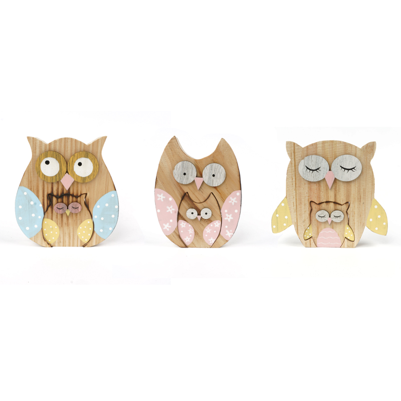 wood owl matryoshka decoration wood owl decoration dolls log craft 14112cm home decor free shipping