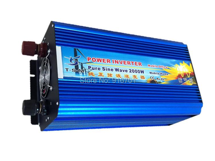 2000W puhdas aalto invertteri DOOR TO DOOR FREE SHIPPING 48V DC to AC Solar Inverter 2000W Pure sine wave power inverter(China (Mainland))