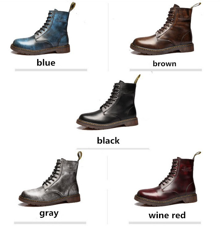 Top Quality Autum Winter Martin Shoes Fashion Waterproof Genuine