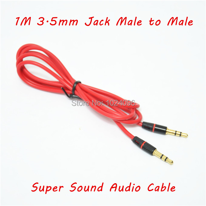 1PC wholesale Super Sound 3.5mm Jack male to male Audio Stereo Aux Extension Cable Cord Line For Phone MP3 Speaker(China (Mainland))