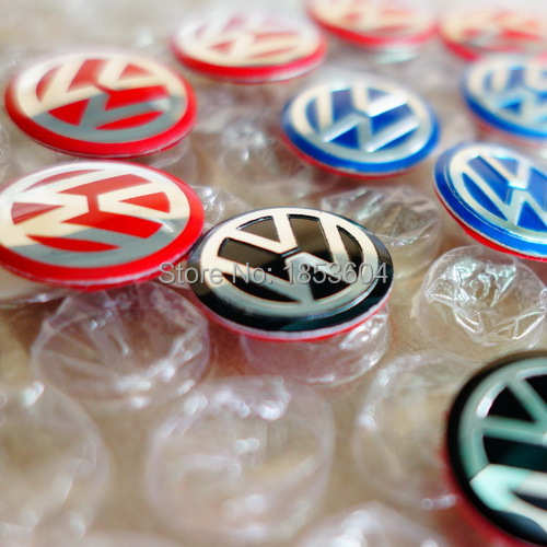5pcs 3D VW blue/black/red GTI R32 Rline Rabbit Key Fob Badge Emblem Sticker Car Styling 14mm 10mm Volkswagen B5 B6 Bora(China (Mainland))