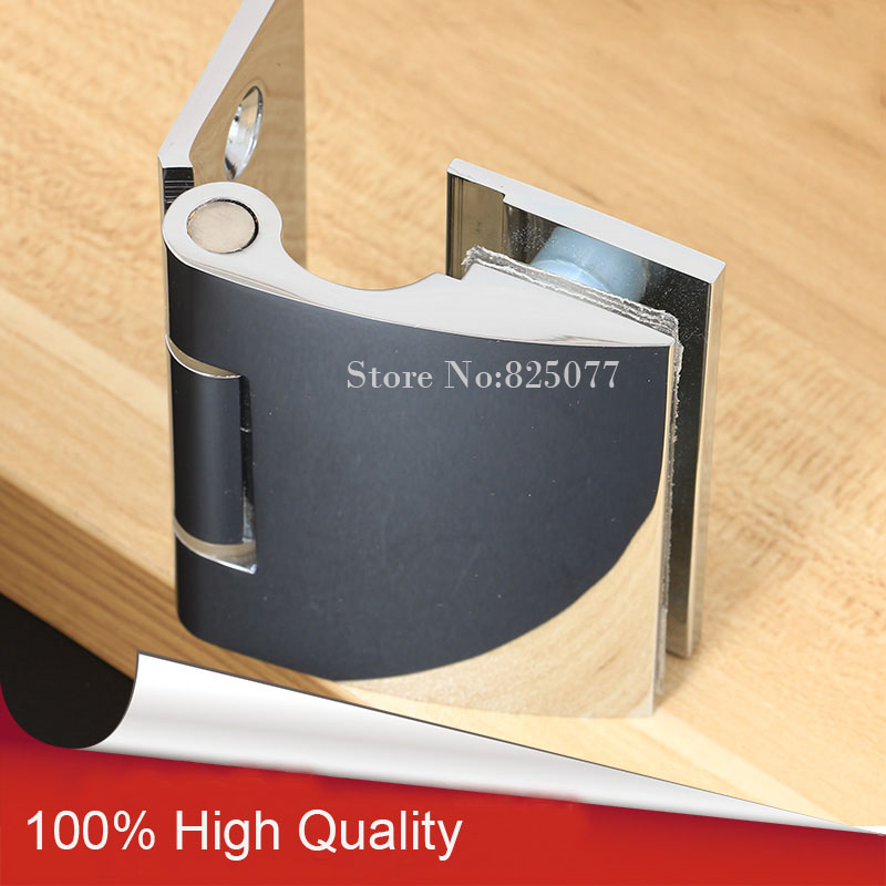 """1PCS Wall to Glass Offset Hinge for 8-12mm 3/8""""-1/2"""" Thickness Glass Polished Chrome Shower Door Brass Hinge Hd03(China (Mainland))"""