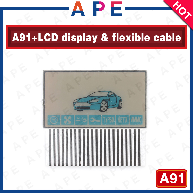 2016 New Arrival Free shipping A91 LCD display flexible cable for Starline A91 car remote control A91 LCD display flexible cable(China (Mainland))