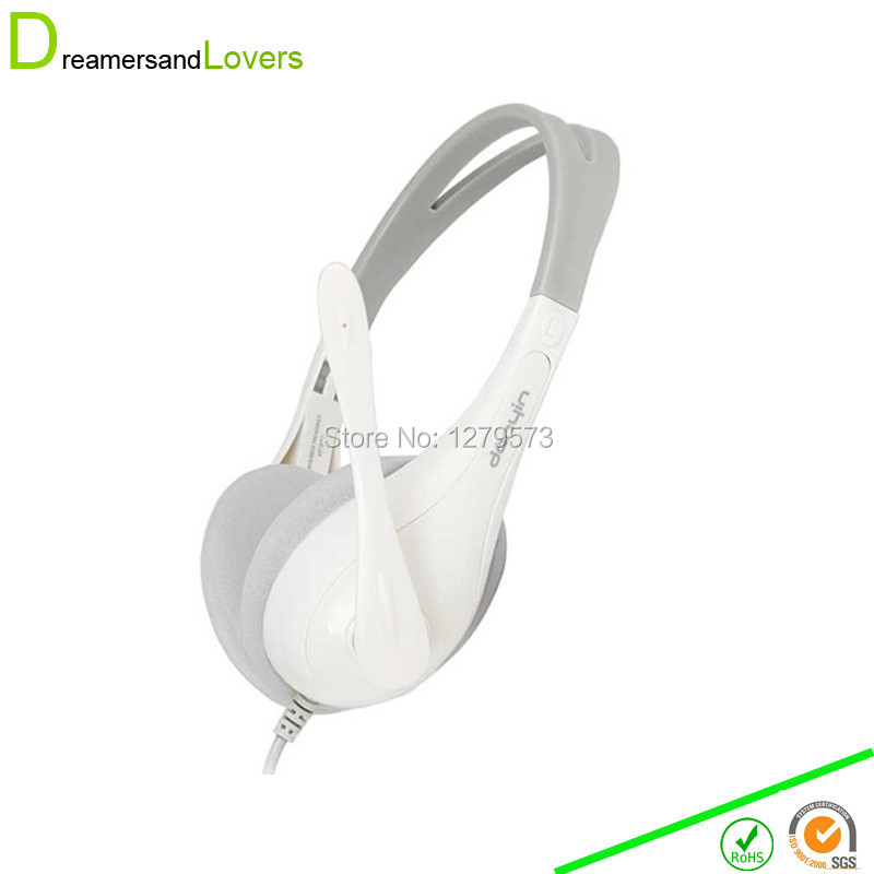 Dreamersandlovers Stereo Gaming and Skype Headset with Mic for Notebook Laptop Desktop and XBOX 360 Headset Earphone White(China (Mainland))