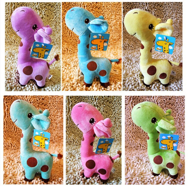 New deer soft plush stuffed animal doll Baby Favor Play Toy Birthday Wedding Animal Dolls Gift Giraffe(China (Mainland))