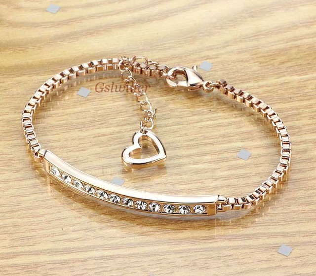 Free Shipping Italina Rigant Fashion Wholesale Jewelry 18k gold plated Austrian Crystal Bracelet Girlfriend Gift