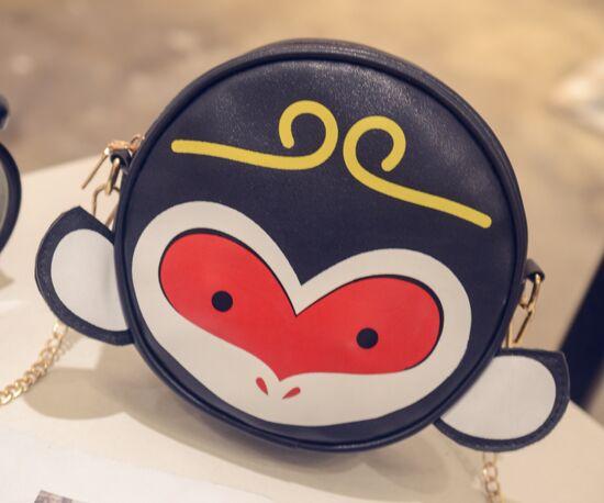 free shipping Cute monkey circular chain shoulder bag, fashion bag summer new animal,lolita kawawii crossbody girls sling bag(China (Mainland))