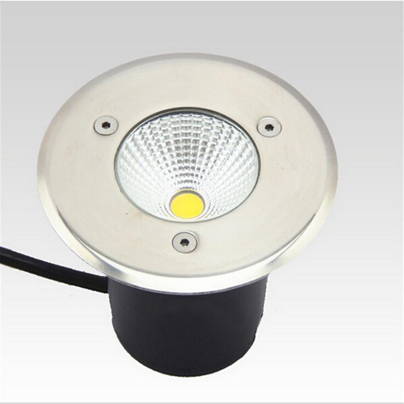 Free Shipping 10W Warm White/Cold White LED COB underground light,led recessed floor lights AC85-265V(China (Mainland))
