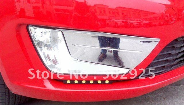 new 2012 KIA RIO / k2 ABS Chrome front fog light cover lamp cover by EMS CPAM
