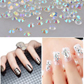 New 1000pcs bag Glitter White AB Nail Art Rhinestones 3d Tiny Crystal DIY Beauty Nail Accessories