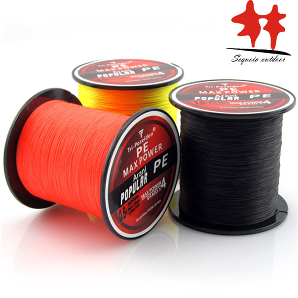 300M Braided Fishing Line! PE Braided Multifilament Fishing Line 330Yards Super Strong brand rounder smoother thinner stronger(China (Mainland))