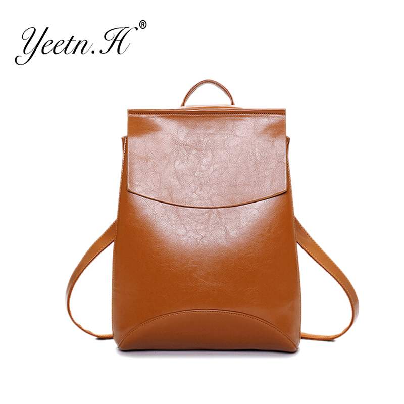 2016 New Arrival Pu Leather Three Colors Backpack Travel Woman Bag Women Backpacks Solid Vintage School Bags For Girls M3541(China (Mainland))