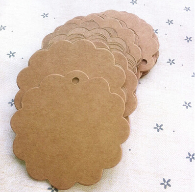 CC06, 6*6cm Antique Kraft Paper Flower Gift Cards/Tags for Wedding Decoration/DIY Card Making/Scrapbooking Paper Crafts(China (Mainland))