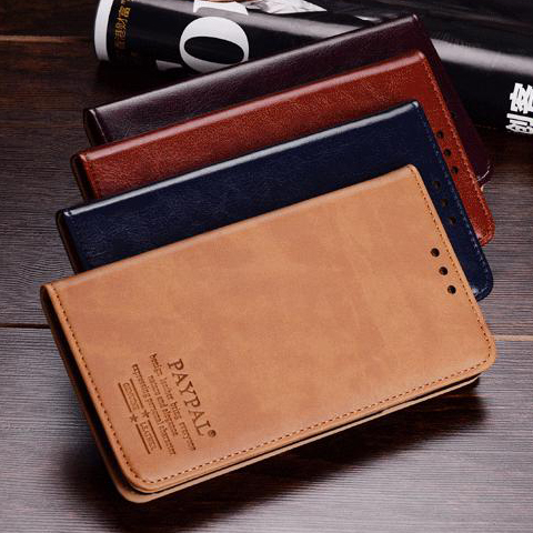 4 Color,Retro Natural Genuine Leather Stand Case Nokia Lumia 1520 Luxury Cell Phone Bags Flip Cover & Card Holder - happigoo store