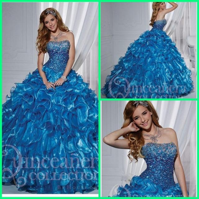 Новое поступление мода бальное платье принцессы раффлед бисероплетение quinceanera ...