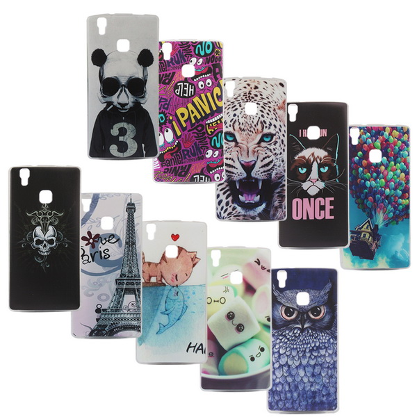 Cute owl Color Painting Silicon for DOOGEE X5 Max back phone cover Soft TPU case for DOOGEE X5 Max(China (Mainland))