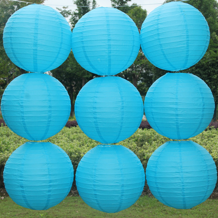 Chinese paper lanterns 10pcs/lot 12''(30cm) Deep blue color Round lamps for home wedding decoration party suppliers(China (Mainland))