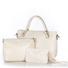 In Store New Batch PU Leather Women Messenger Bags Fashion Shoulder Handbag+Messenger Bag+Purse 3 Sets Composite Bags
