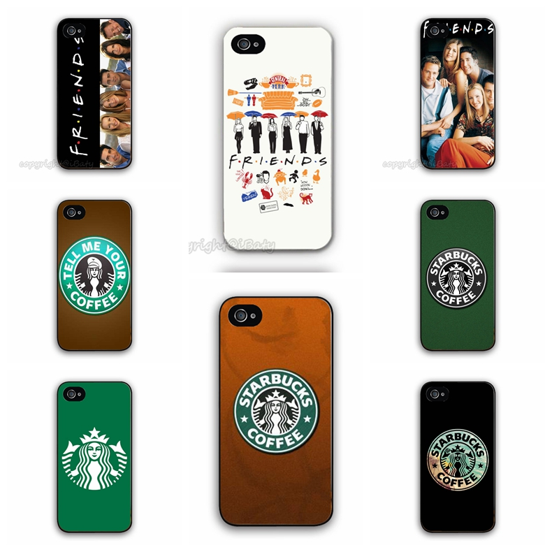 2015 Worldwide Friends TV Show Starbucks Case Hard Plastic Cell Phone Cover Apple iPhone 5C (white/black border) - iBaty Cute Custom Gift Co., Ltd. store