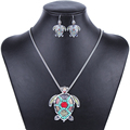 MS1504255 Fashion Jewelry Sets High Quality Gold Plated Beads Multicolor Sea turtle Design Woman s Necklace