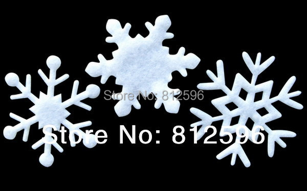 Free Shipping 100pcs 35mm 2016 New Winter Holiday Supplies Christmas White Felt Snowflake Wedding Birthday Party Decoration Kids(China (Mainland))