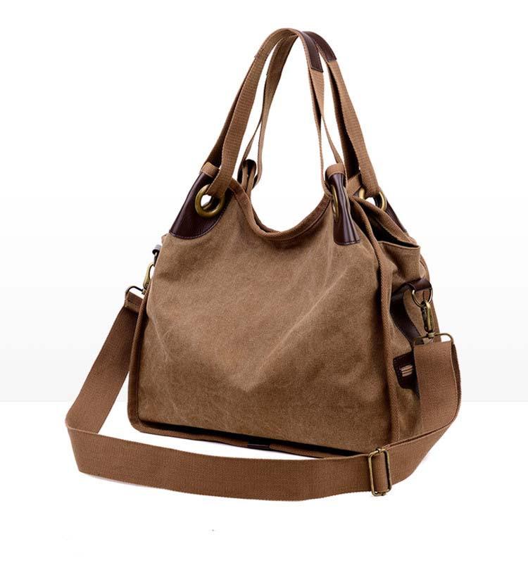 ซื้อ 2016ออกแบบแบรนด์ที่มีชื่อเสียงของผู้หญิงกระเป๋าวินเทจหญิงช้อปปิ้งท่องเที่ยวTote Crossbodyกระเป๋าความจุขนาดใหญ่ผ้าใบกระเป๋าสะพาย