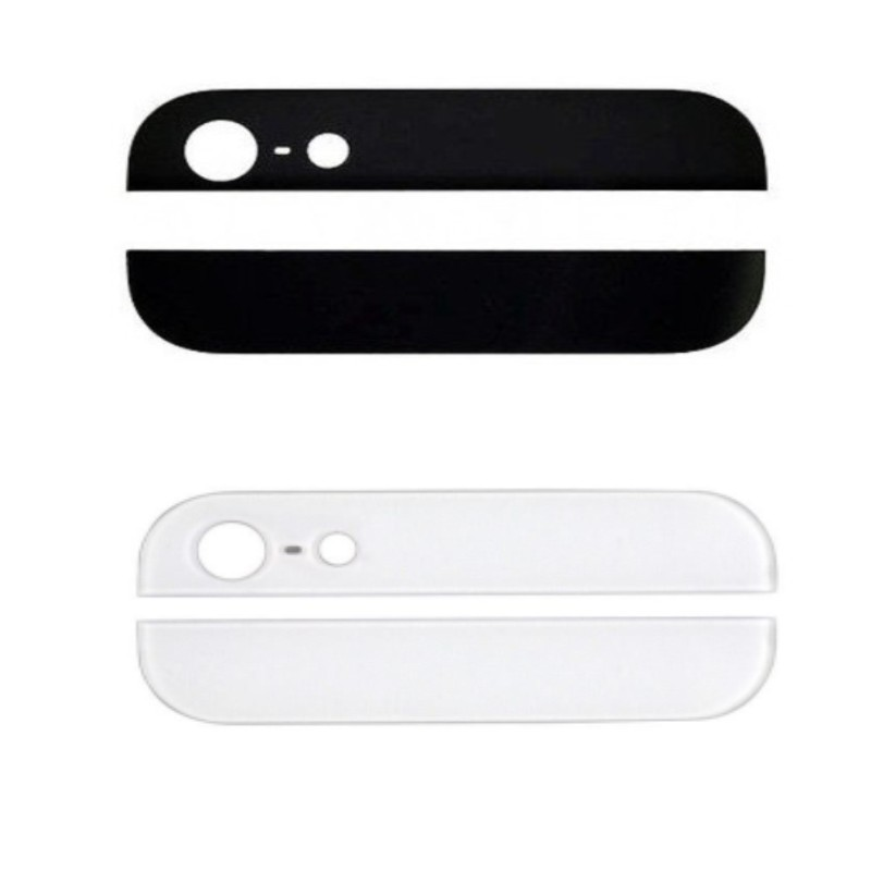 New Top & Bottom Back Rear Glass Panel Replacement For iPhone 5 5g(China (Mainland))