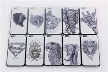 Apple Iphone 6 6S Case 4.7inch Animal Painting Style Tiger Wolf Elephant Owl Superman Lion Cover Cases - dreamwork`s store