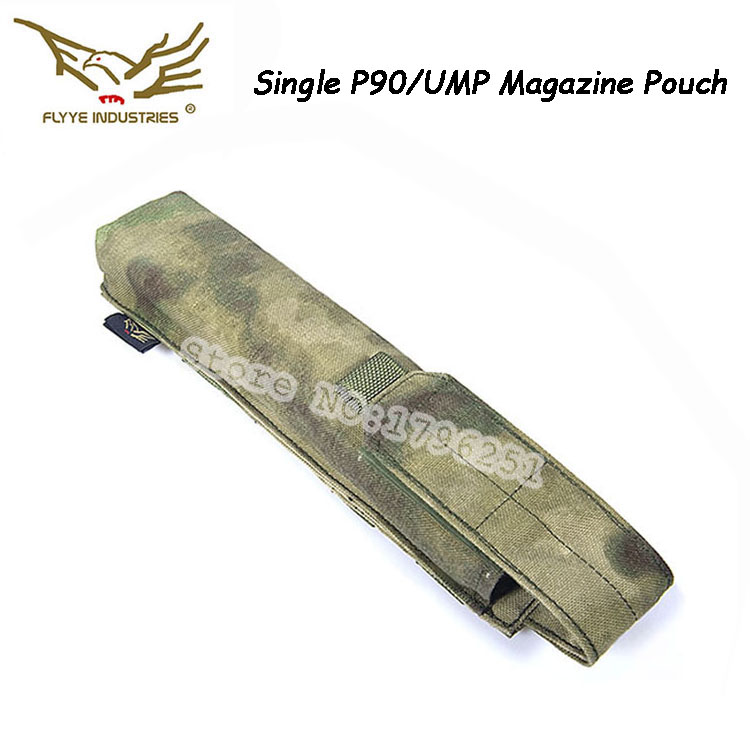 FLYYE MOLLE Single P90/UMP Magazine Pouch for Outdoor Camping with 1000D Cordura Waterproof Nylon FY-PH-M021(China (Mainland))