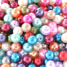 Buy 300 PCs Mixed Colorful Pearl Imitation Round Beads 8mm Dia. DIY Jewelry Findings Fit Necklace Bracelet Jewelry Making for $2.63 in AliExpress store