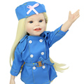Smiling Face 18 Inch Full Body Vinyl American Doll Girl Collectible Newborn Baby Dolls Girl Kids